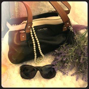 Calvin Klein small leather satchel VINTAGE